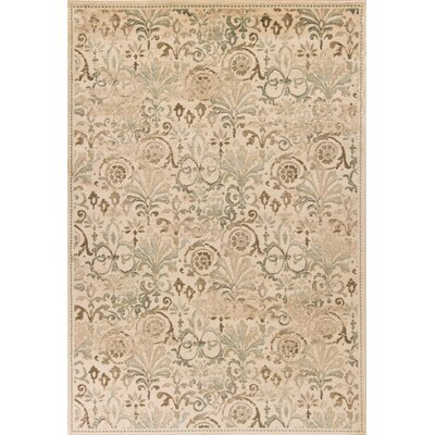 Giroflee Ivory/Taupe/Sage Area Rug Rug Size: Rectangle 77 x 1010