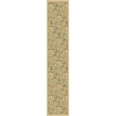 Giroflee Ivory/Taupe/Sage Area Rug Rug Size: Runner 22 x 711