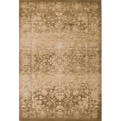 Giroflee Olive Area Rug Rug Size: Rectangle 53 x 78