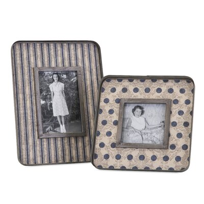 2 Piece Galvanized Picture Frame Set