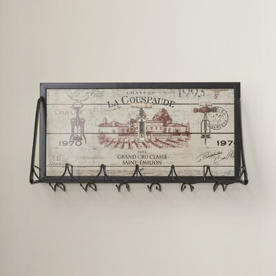 Mickael Vineyard 6 Bottle Wall Mounted Wine Rack