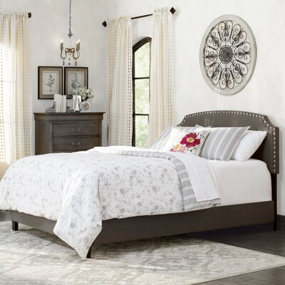 Dupre Upholstered Platform Bed Size: California King, Color: Dark Gray