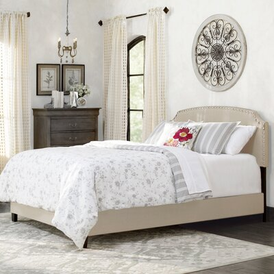 Dupre Upholstered Panel Bed Size: Full, Color: Cream