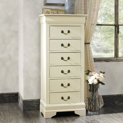 Corbeil 6 Drawer Lingerie Chest Color: Beige