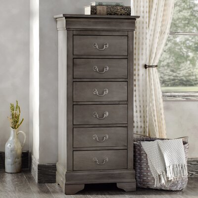 Corbeil 6 Drawer Lingerie Chest Color: Gray