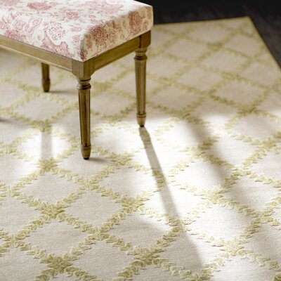 Prioleau Cream/Citrine Area Rug Rug Size: Runner 26 x 8