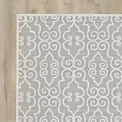 Robicheaux Grey Area Rug Rug Size: Rectangle 22 x 4