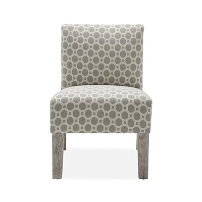 Jemima Slipper Chair Upholstery: Grey Hexagon