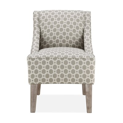 Tidiane Slipper Chair in Taupe
