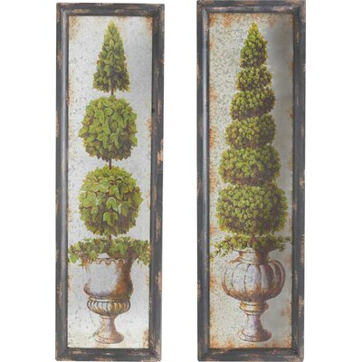 Assorted Tin Detail Topiary Framed Painting Print