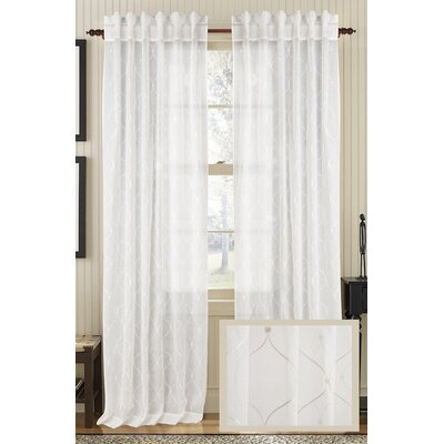 Primevere Geometric Semi-Sheer Rod pocket Single Curtain Panel