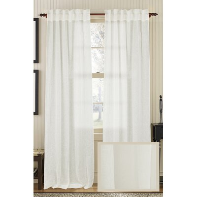 Gustave Solid Semi-Sheer Rod pocket and Tab top Single Curtain Panel
