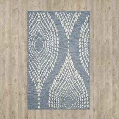 Talence Hand-Tufted Blue/Ivory Area Rug Rug Size: 6 x 9