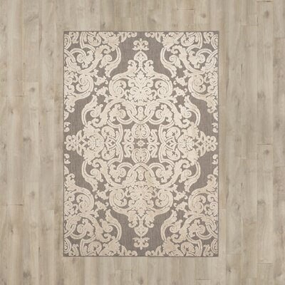 Lievin Taupe Indoor/Outdoor Area Rug Rug Size: 4 x 6