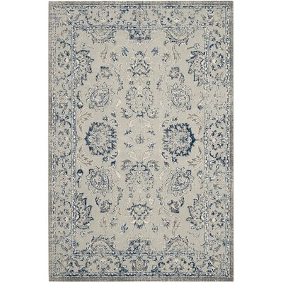 Saint-Mande Silver/Silver Area Rug Rug Size: Rectangle 4 x 6