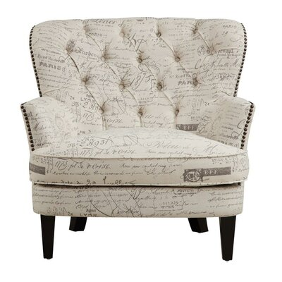 Timothee Script Upholstered Armchair