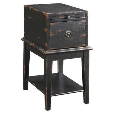 Philippine End Table With Storage Color: Black