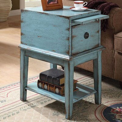 Philippine End Table With Storage Color: Blue