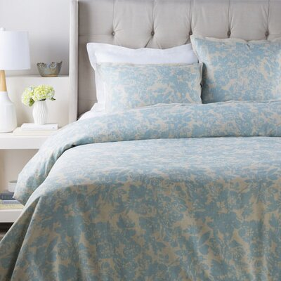 Orobanche Duvet Color: Blue, Size: King