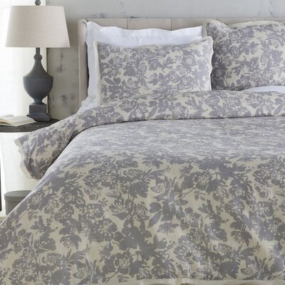 Orobanche Duvet Size: King, Color: Gray
