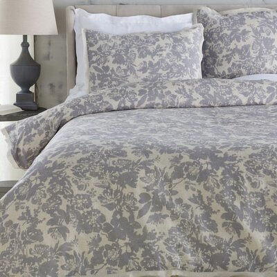 Orobanche Duvet Cover Set Size: Full / Queen, Color: Gray