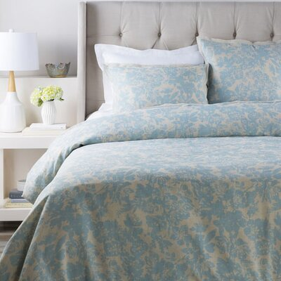 Orobanche Duvet Cover Set Size: Full / Queen, Color: Blue