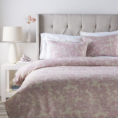 Orobanche Duvet Cover Set Size: Full / Queen, Color: Pink