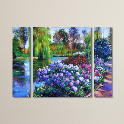 Promise of Spring by David Lloyd Glover 3 Piece Painting Print on Wrapped Canvas Set