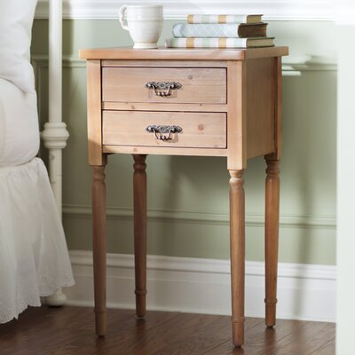 Montauban 2 Drawer End Table Color: Brown