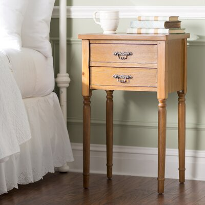 Montauban 2 Drawer End Table Color: Honey Natural