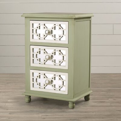 Aminata 3 Drawer Mirrored Chest
