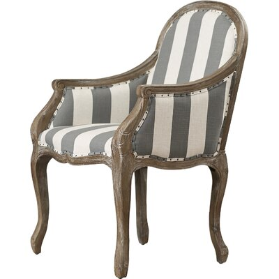 Michell Armchair Color: Gray/White