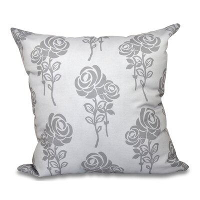 Auserine Floral Print Throw Pillow Size: 16