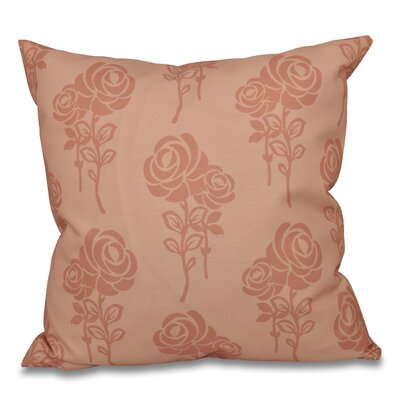 Auserine Floral Outdoor Throw Pillow Size: 20 H x 20 W, Color: Peach