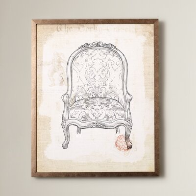 'Victorian Chair' Framed Graphic Art
