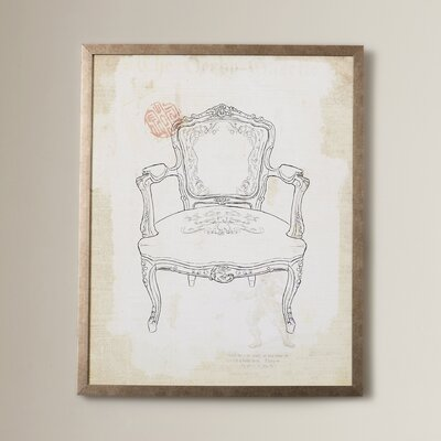 'Victorian Chair II' Framed Graphic Art