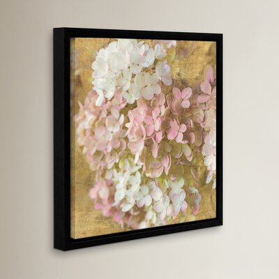 Gilded Hydrangea II Graphic Art on Wrapped Canvas
