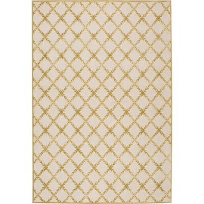Prioleau Cream/Citrine Area Rug Rug Size: Rectangle 76 x 106