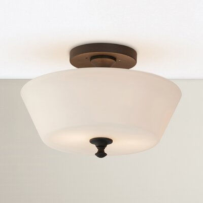 Maiwenn 2-Light Semi-Flush Mount Size: 8.75 H x 13 W x 13 D