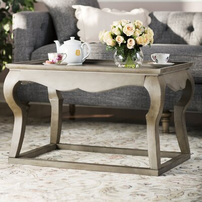 Loane Coffee Table with Tray Top Color: Saddle Brown