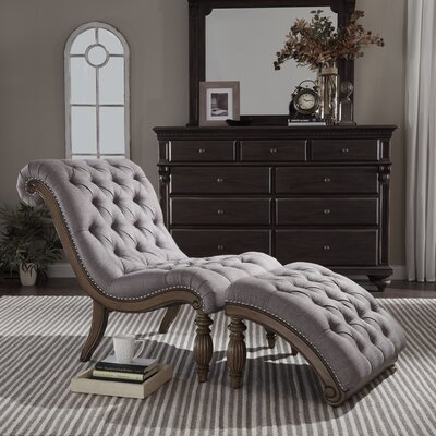 Celya Chaise Lounge Upholstery: Gray