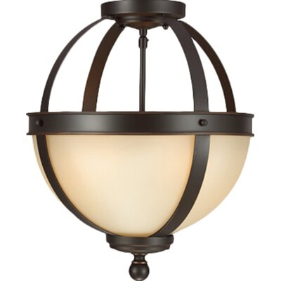 Doris 2-Light Autumn Bronze Globe Pendant Bulb Type: 100W A19 Medium