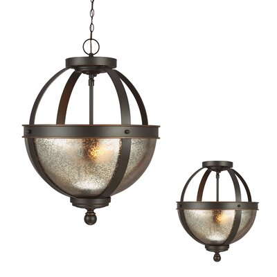Doris 2-Light Globe Pendant Bulb Type: 100W  A19 Medium