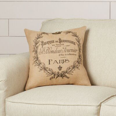 Thibault Burlap Throw Pillow