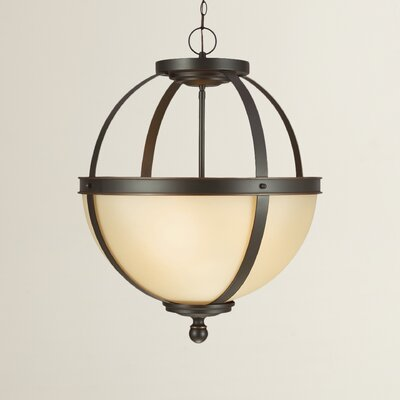 Doris 3-Light Autumn Bronze Globe Pendant Bulb Type: 100W A19 Medium