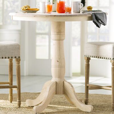 Saint-Mande 36 H Counter Height Pub Table Color: Cinnamon/Espresso, Tabletop Size: 36 H x 36 W x 36 D