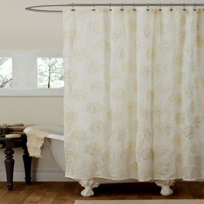 Alexandre Shower Curtain Color: Ivory
