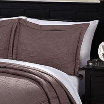 Ambroise Pillow Case Color: Taupe, Size: King