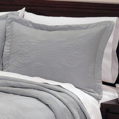 Gilles Pillow Case Color: Dusty Blue, Size: King