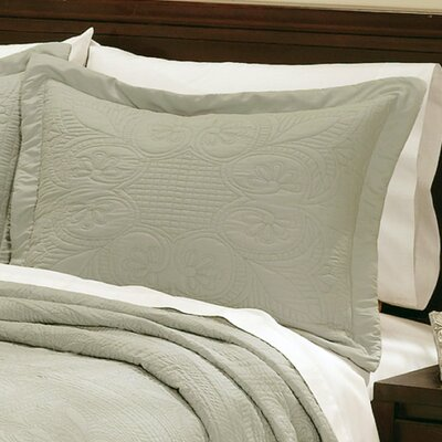 Ambroise Pillow Case Color: Sage, Size: King